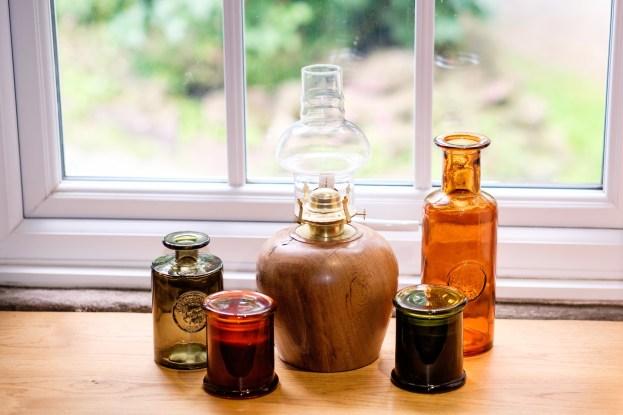 Glassware in autumn colours