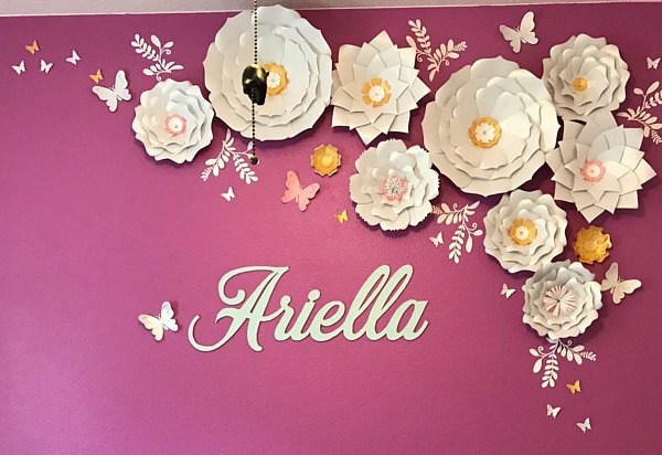 Ten Large White And Gold Paper Flowers Wall Decor Free Shipping In The Usa