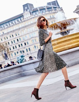 Autumn fashion Boden dress and boots