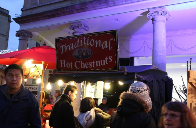 Traditional Hot chestnuts stall