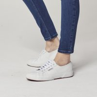 White leather Superga pumps