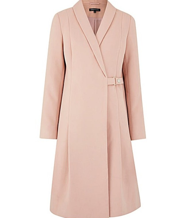 pink wool coat simply be plus size pastel coat