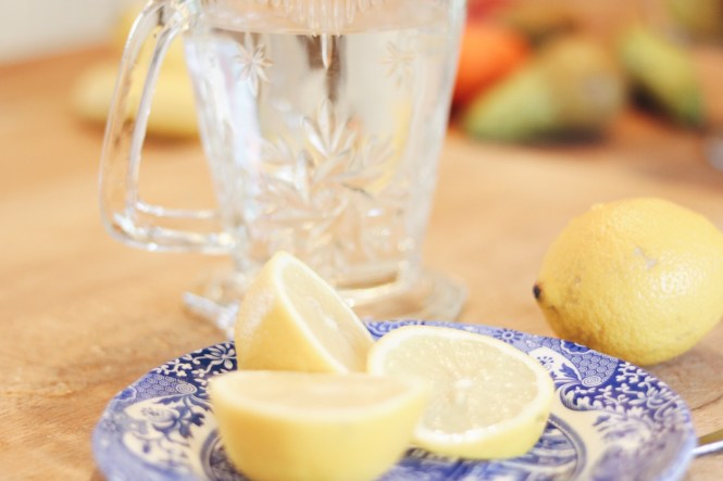 water infused with lemon