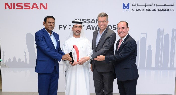 Nissan Middle East awarded Al Masaood Automobiles