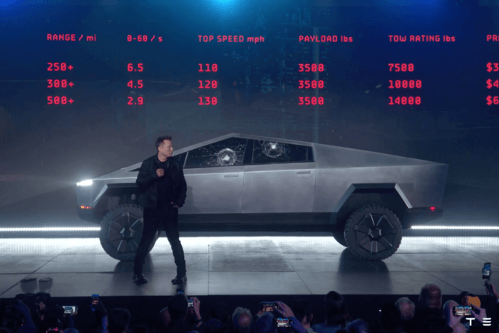 Elon Musk with Tesla Cybertruck