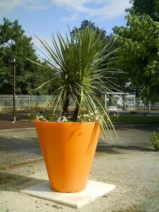 Pot de fleurs XXL Orange