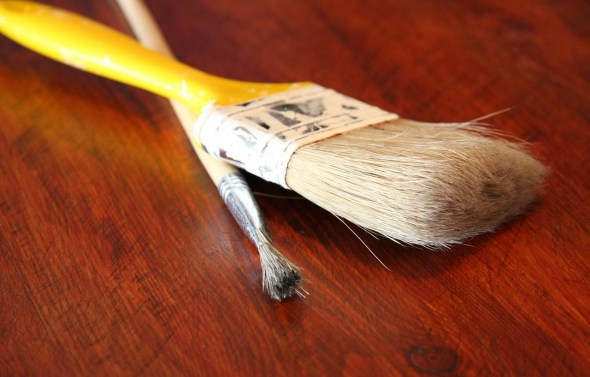 pinceau et bois