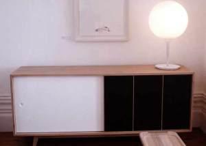 meuble en bois laqué