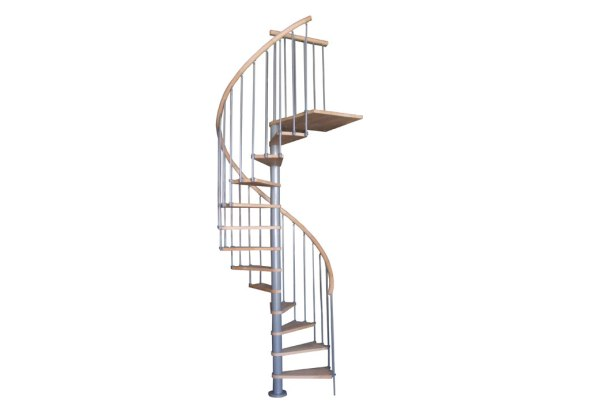 Escalier Colimaçon en Bois et Métal