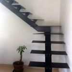 Escalier Métal Design 1/4 Tournant