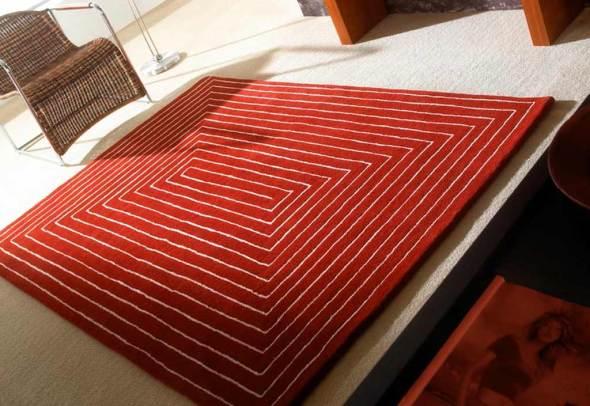 promotions de juin tapis-laine-rouge-tridimensional_2