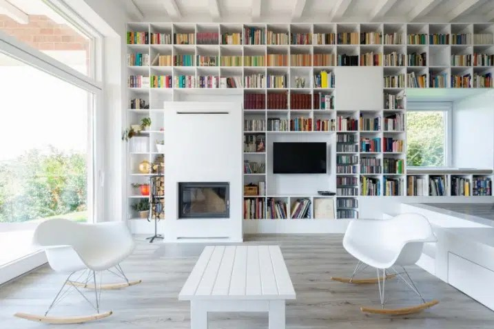 creer un mur bibliotheque design