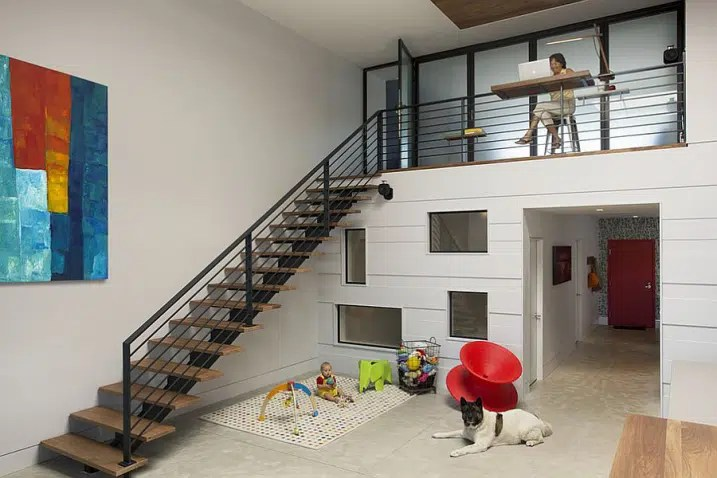 Homes Two Story Foyer Stair Designs