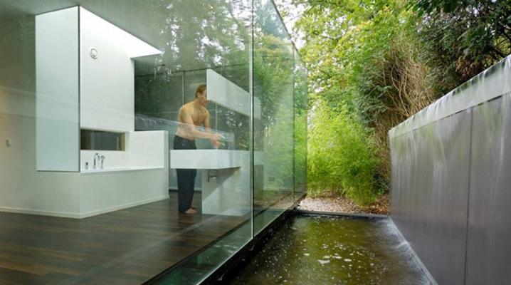 25 idees de salles de bain transparentes