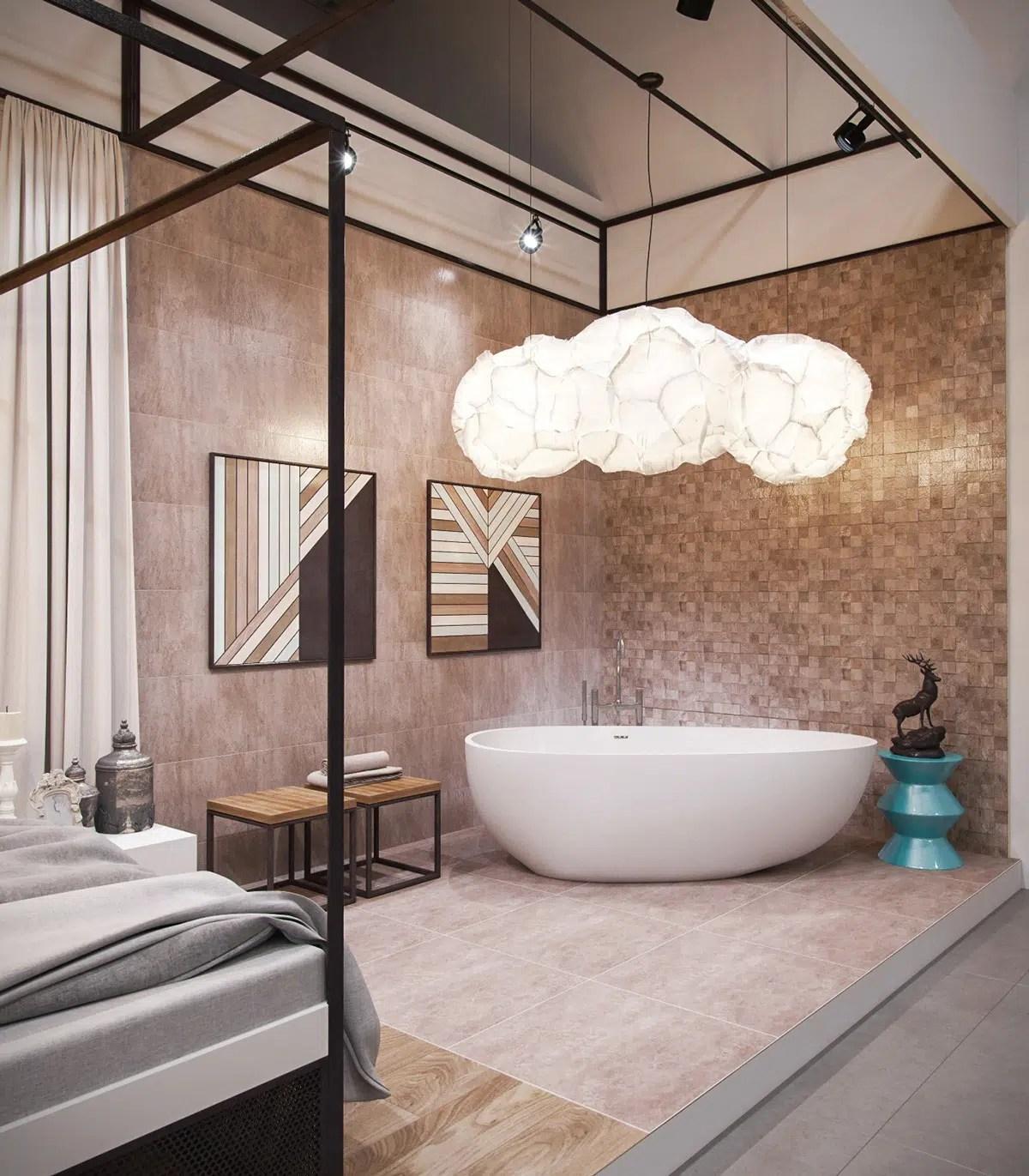salles de bains avec baignoire de luxe