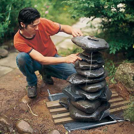 creer une fontaine de jardin soi meme