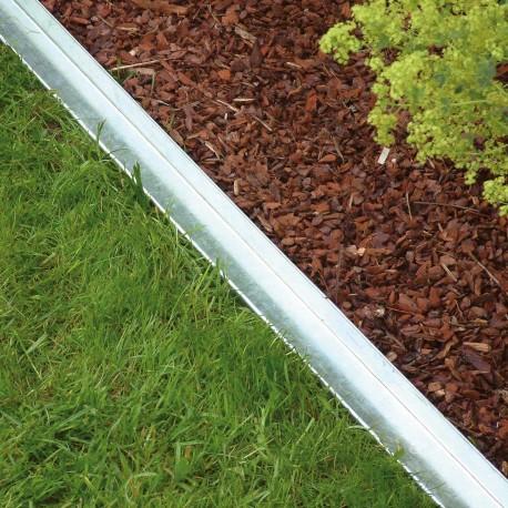 bordure de jardin en acier galvanise droite 59 x 4 x 9 cm