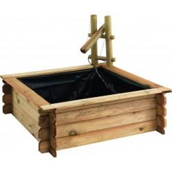 bassin en bois carré