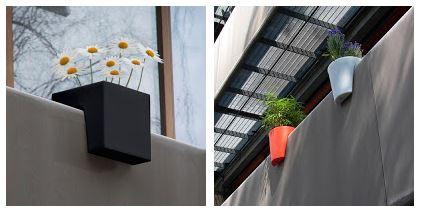 jardinières plastiques pour rambarde