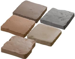 pavé pierre reconstituée multi couleur