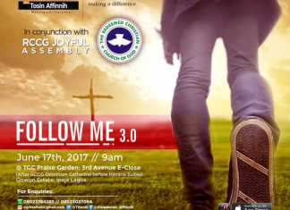 Follow Me 3.0 With Tosin Affinnih, June 2017 Edition [Fresh Oil Seminar]