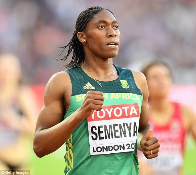 Semenya after her 1500m final on monday [www.AmenRadio.net]
