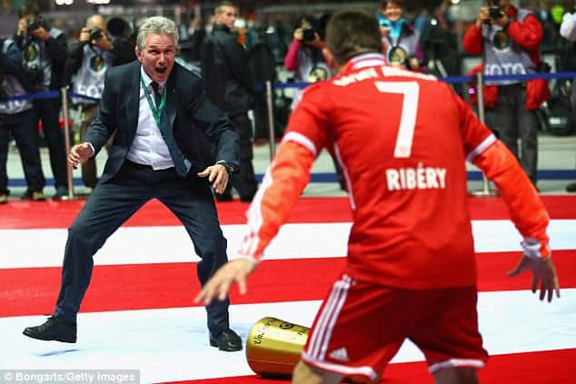 Jupp Heynckes and Frank Ribery celebrates [www.AmenRadio.net]