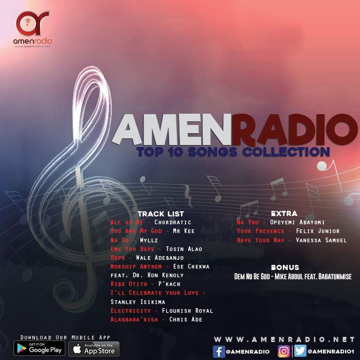 Gospel Music: Top 10 Gospel Songs for June 2018 | AmenRadio net