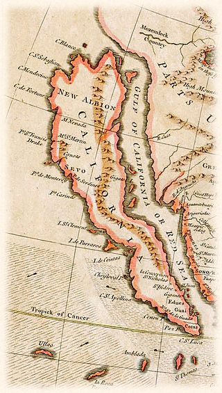 1745 Map of California as an Island