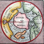Old World 1597 map of Hyperborea by Abraham Ortelius