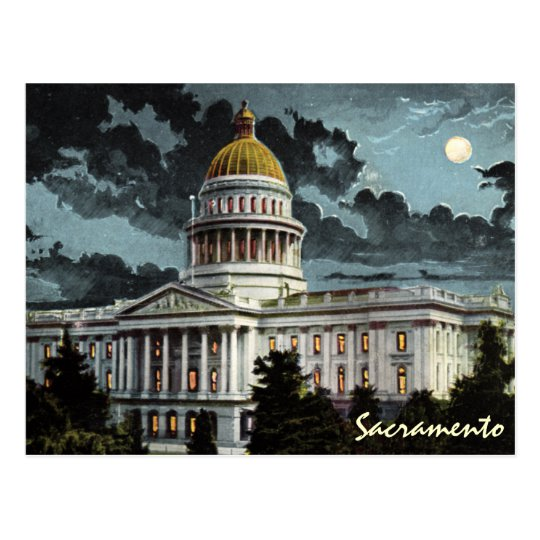 Old World 1800's postcard of California State Capitol
