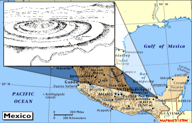 Old World Map of the Atlantis