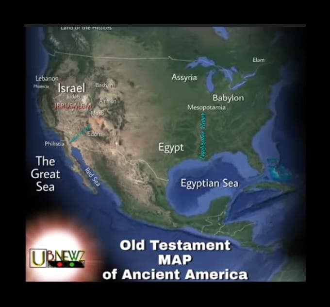 Old Testament map of Ancient America