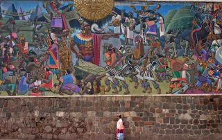 16th Century Wall Mural, cusco, Andres Mts.