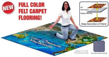 Printed Felt In-Step Carpet