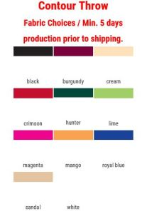 contour unprinted stretch table cover fabric color choices