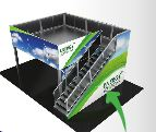 orbus double deck trade show booth rental las vegas and chicago