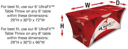 stretch table cover sizing tool