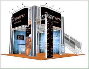 20-x-20-Truss Double Deck Display