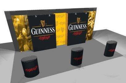 burst popup display 10'x20′ Kit E