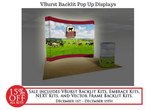 VBurst Backlit Pop Up Displays