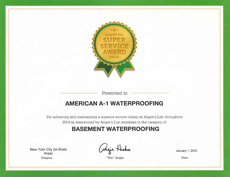 American A 1 Waterproofing Central North Jersey Basement