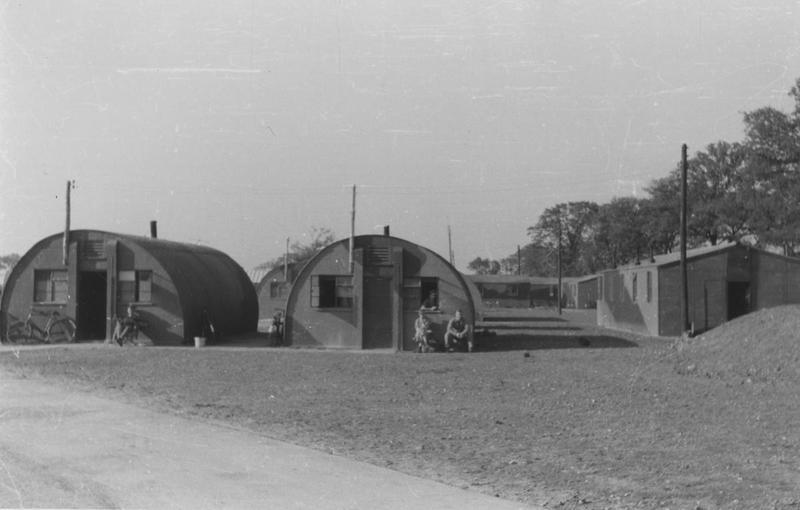 Nissen huts at Shipdham airbase, home of the 44th Bomb Group. Image via Colonel William R Cameron. This is part of the 67th BG LIVING SITE
