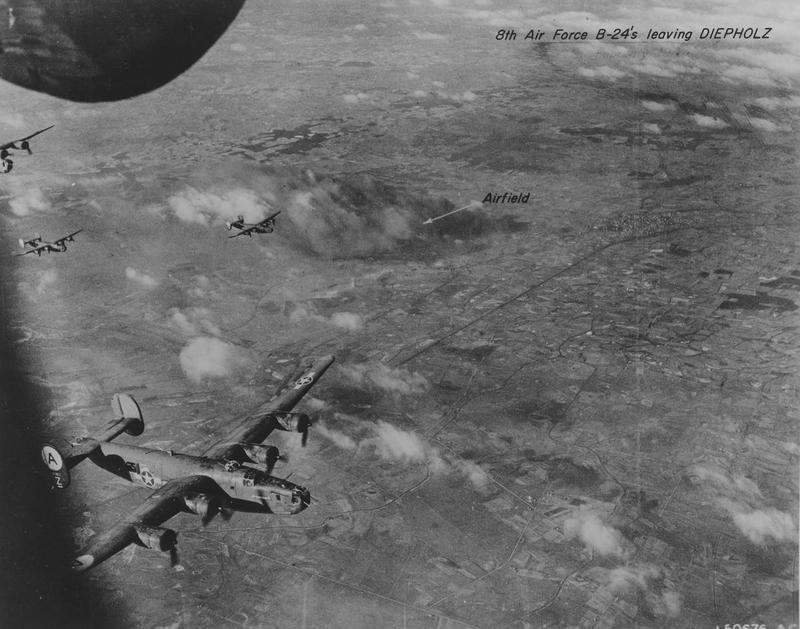 B-24 Liberators, including a B-24 (serial number 41-29153) nicknamed