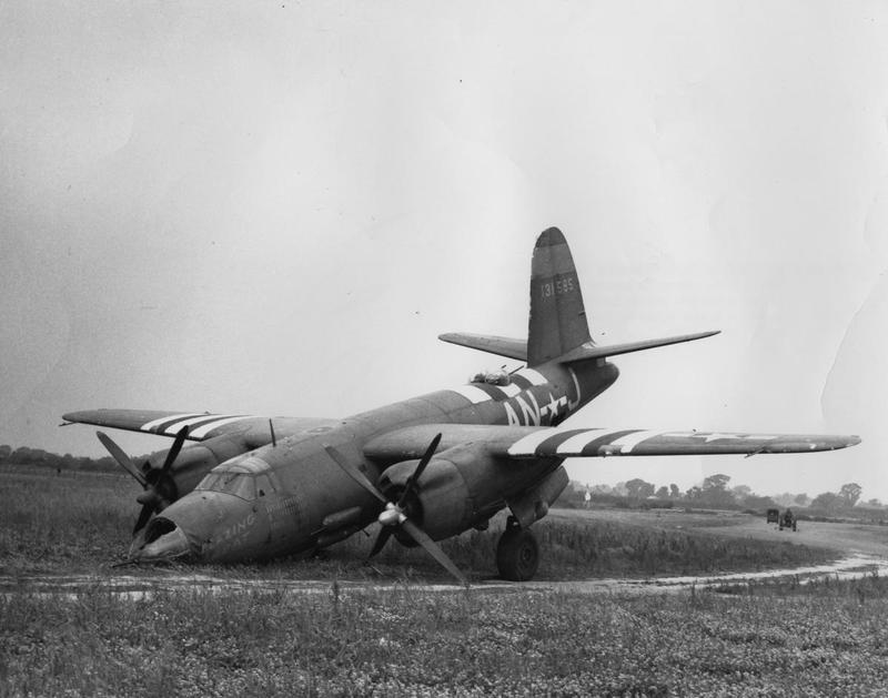 A crashed B-26 Marauder (AN-J, serial number 41-31585) nicknamed