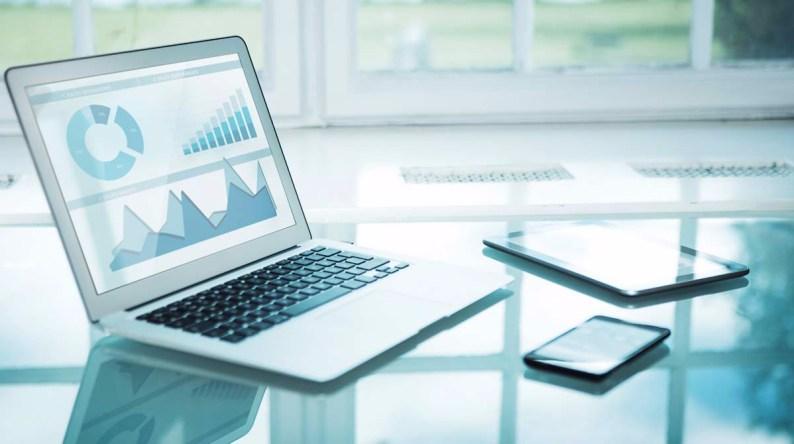 Bank Document Management page laptop image