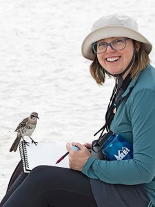 Artist and birder Catherine Hamilton will be giving a Zeiss-sponsored talk at the 2018 American Birding Expo.