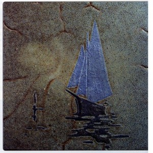 Firing Cracks Electrify This Marblehead Tile (C. 1920)