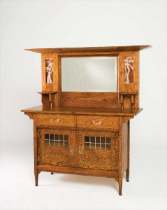 For The Reproduction Sideboard, Art Glass Was Commissioned From Anne Ryan Miller In Place Of The Original Sideboard's Hammered Copper Panels