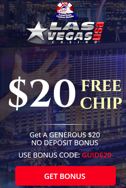 Las Vegas USA Casino No Deposit Bonus $20 FREE